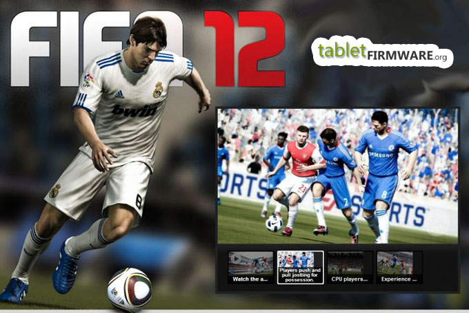 EA FIFA12 app football game for Android tablets