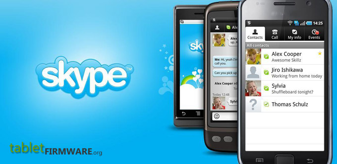 Skype app for Android tablets