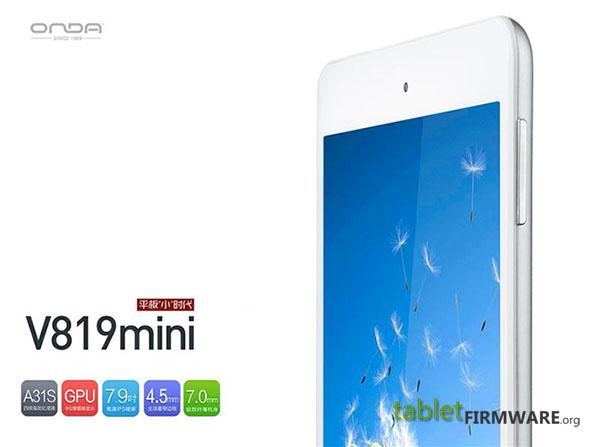 Onda v819mini 7.9 inch mini Pad Google Android 4.4 KitKat Tablet