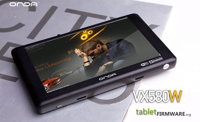 Onda vx580w enhanced version luxury version firmware
